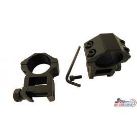 Montáž dvoudílná střední 25 mm / na 22mm lištu